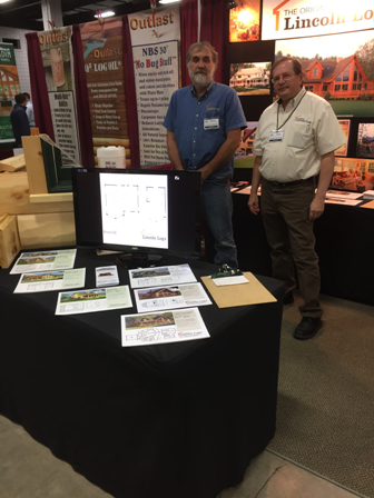 Bruce & Larry at the Marlboro MA Log & Timber Home Show