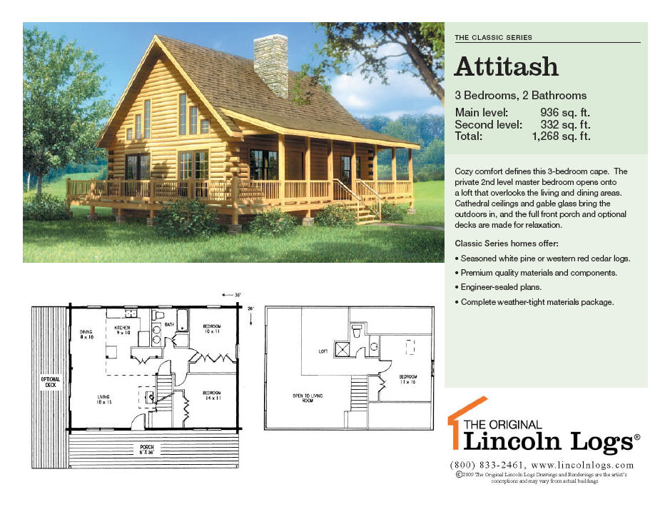 Log Home Floorplan: Attitash
