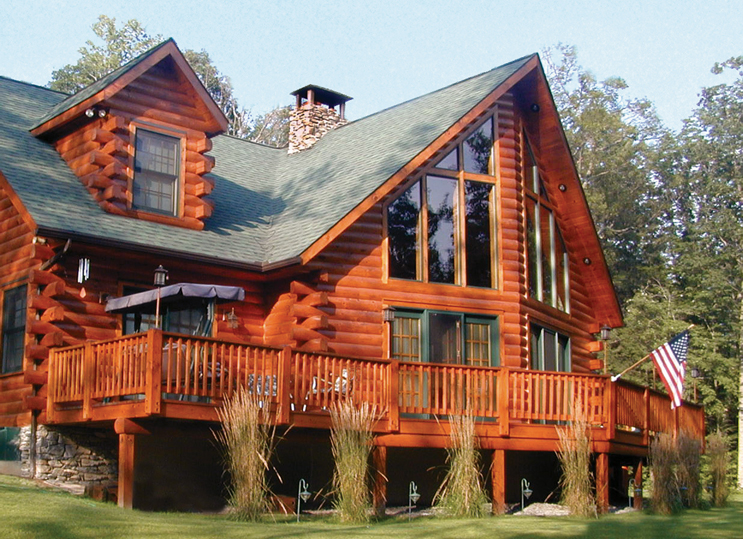 Cedar deck packages the original lincoln logs for Home building packages