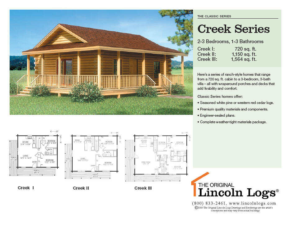 Log Home Floorplan: Creek Series