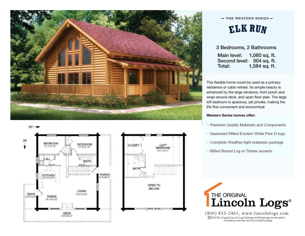 Awesome Log Home Plans 2 Elk 20run 20full 20sheet Newjpg Page1