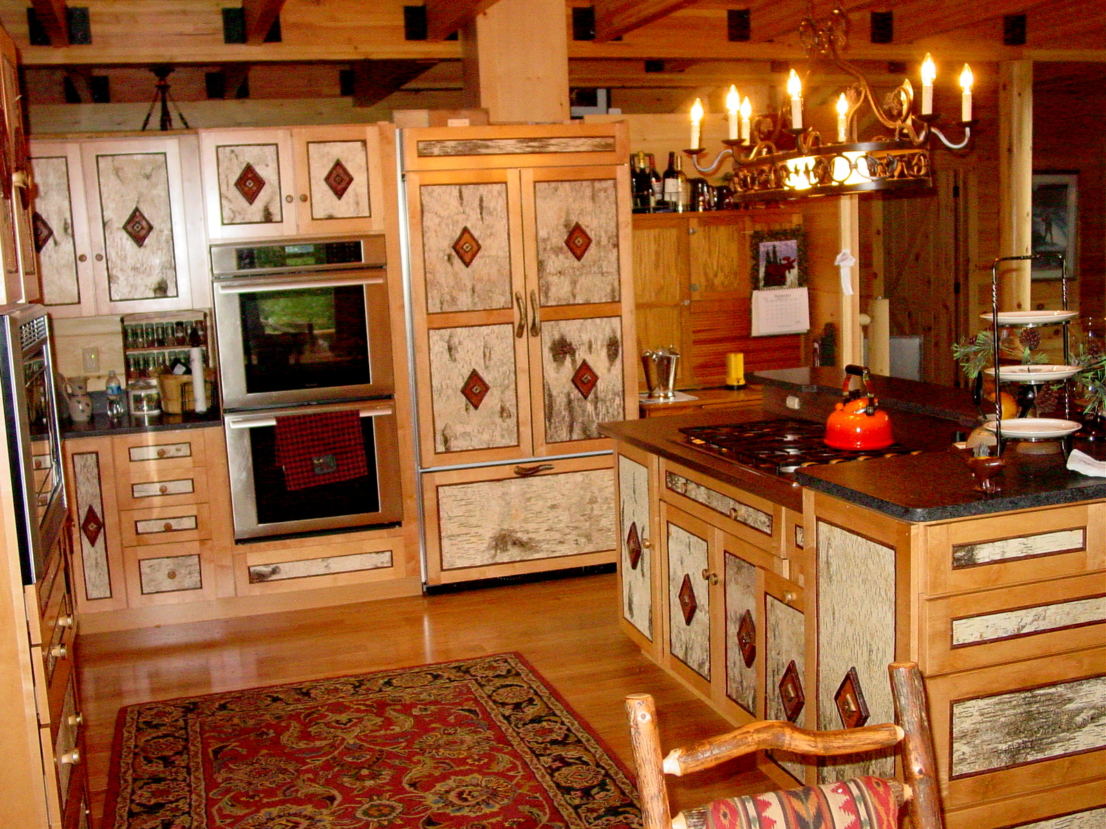 Order a lincoln logs planbook the original lincoln logs for Pictures of western style kitchens
