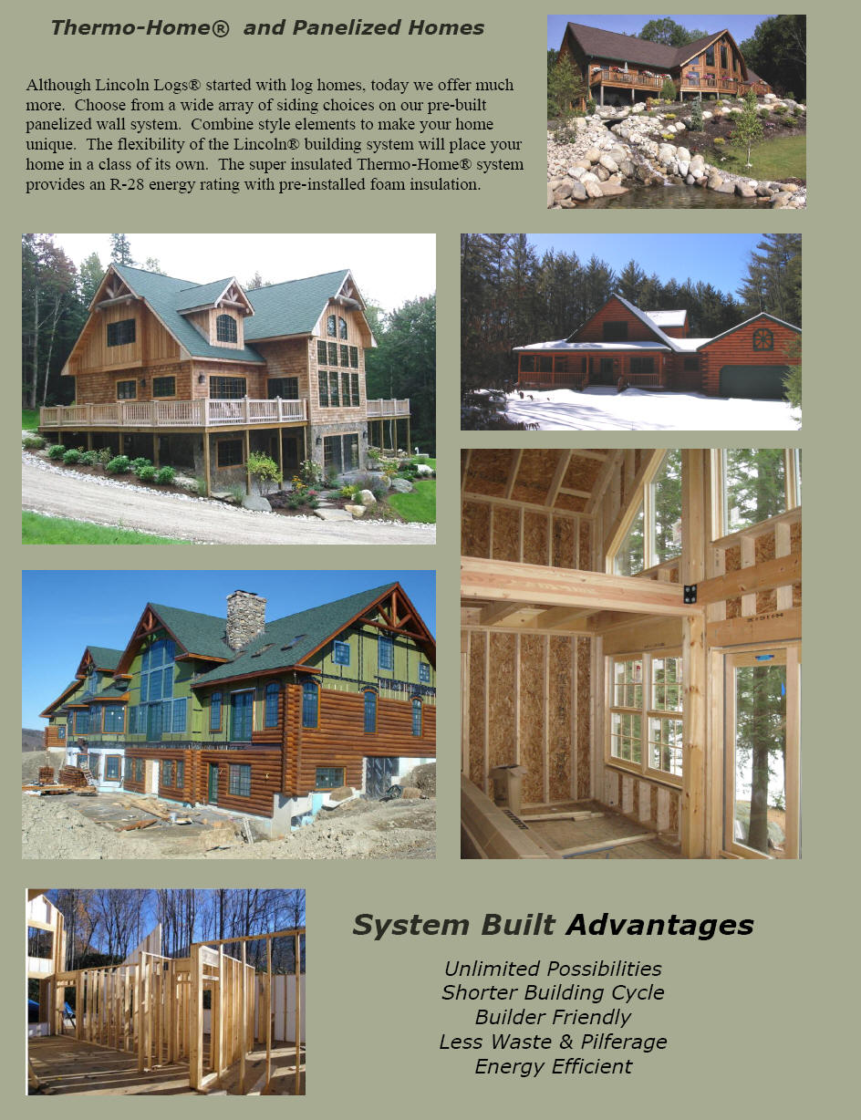 Thermo Home Panelized Homes The Original Lincoln Logs