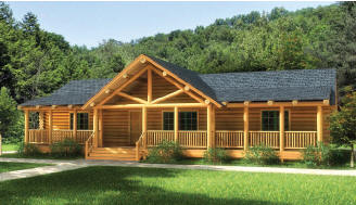 Log Home Floorplans The Original Lincoln Logs