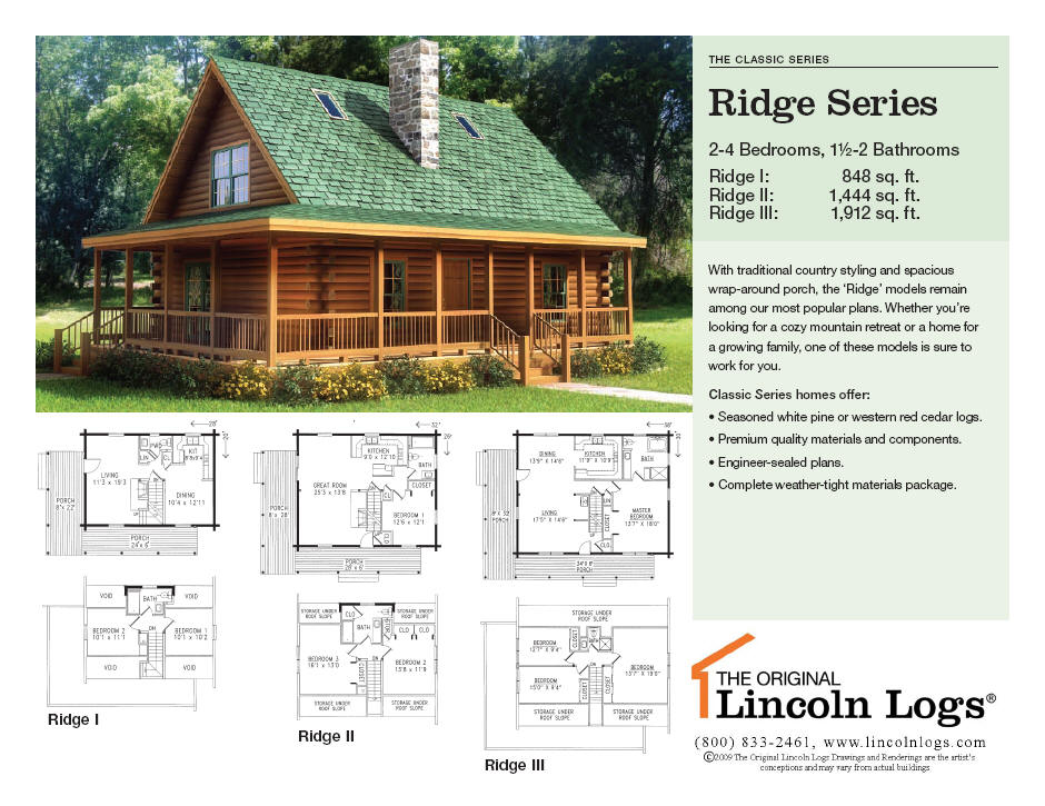 Log Home Floorplan: Ridge Series