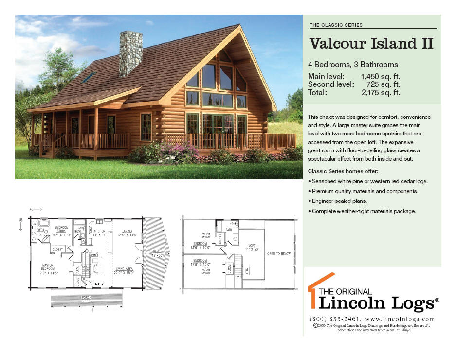 Log Home Floorplan: Valcour Island II
