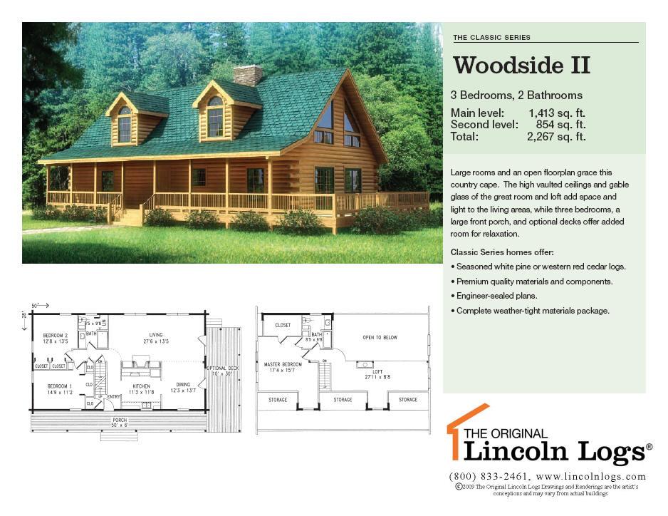 Log Home Floorplan: Woodside II
