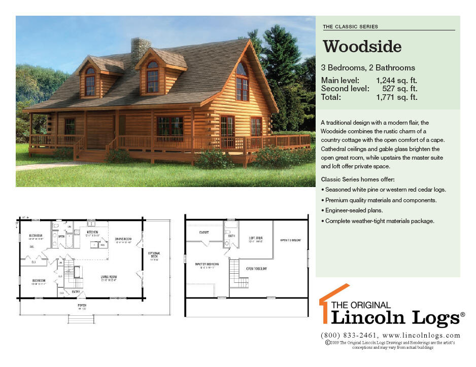 Woodside Homes Floor Plans: Log Home Floorplan: Woodside : The Original Lincoln Logs