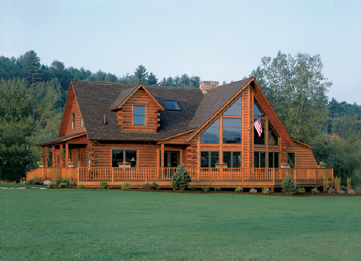 then log logs now classic homes finished lincoln building